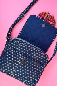 Pattern Indigo Cross Body