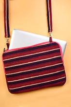 Load image into Gallery viewer, Laptop Bag Purple Stripes