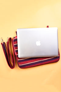 Laptop Bag Purple Stripes