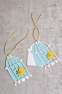 Gift Tag Bird Cage (set of 5)