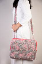 Load image into Gallery viewer, Laptop Bag Pink and Grey