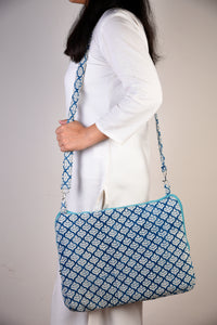 Laptop Bag Blue Pattern