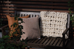 Natural Chunky Knit Throw