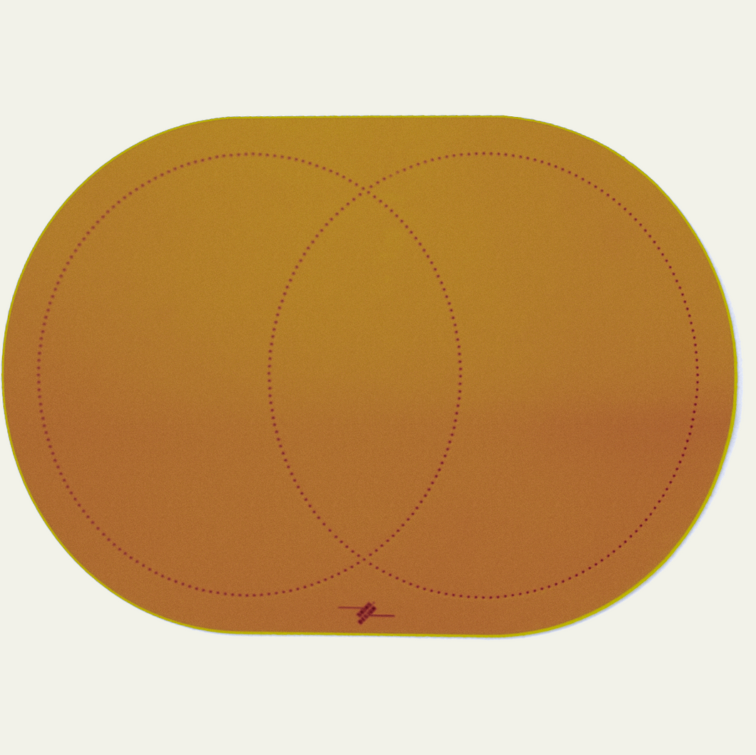Round Leather Placemat - Set of 6