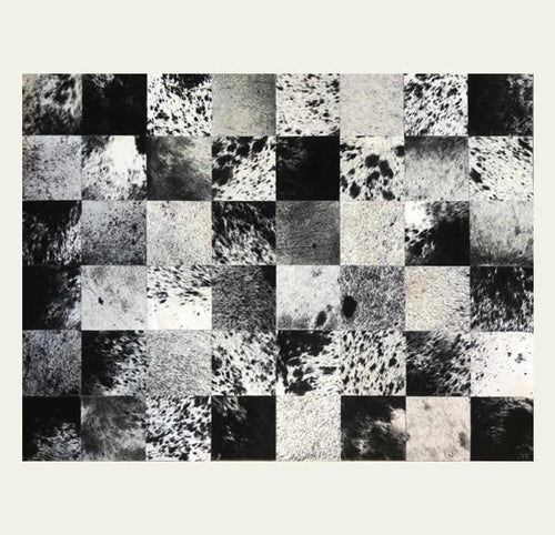 Cowhide Patchwork 5'3'' x  3'11''  (block 8''x 8'')