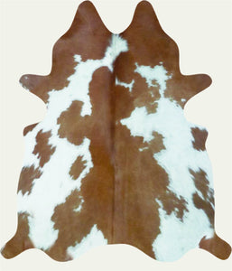 Cowhide Brown & White