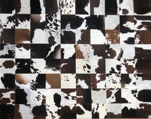 Cowhide Patchwork 6'7'' x  5'3''  (block 8''x 8'')