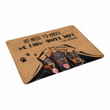 "NO NEED TO KNOCK DOBERMAN Doormat 23.6"" x 15.7"""