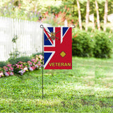 British Army 2nd Lieutenant Veteran Garden Flag/Yard Flag 12 inches x 18 inches Twin-Side Printing