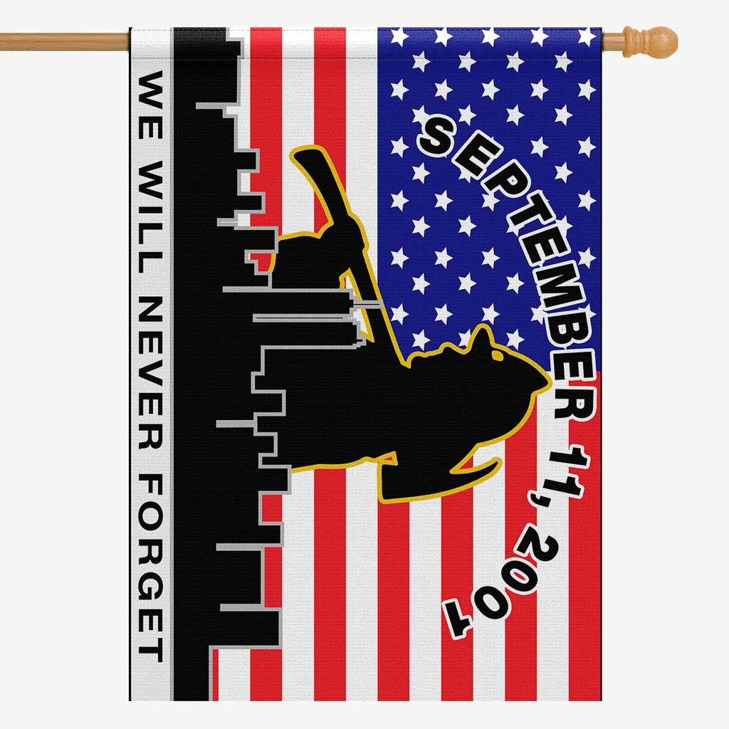 "WE WILL NEVER FORGET House Flag 28"" x 40"""