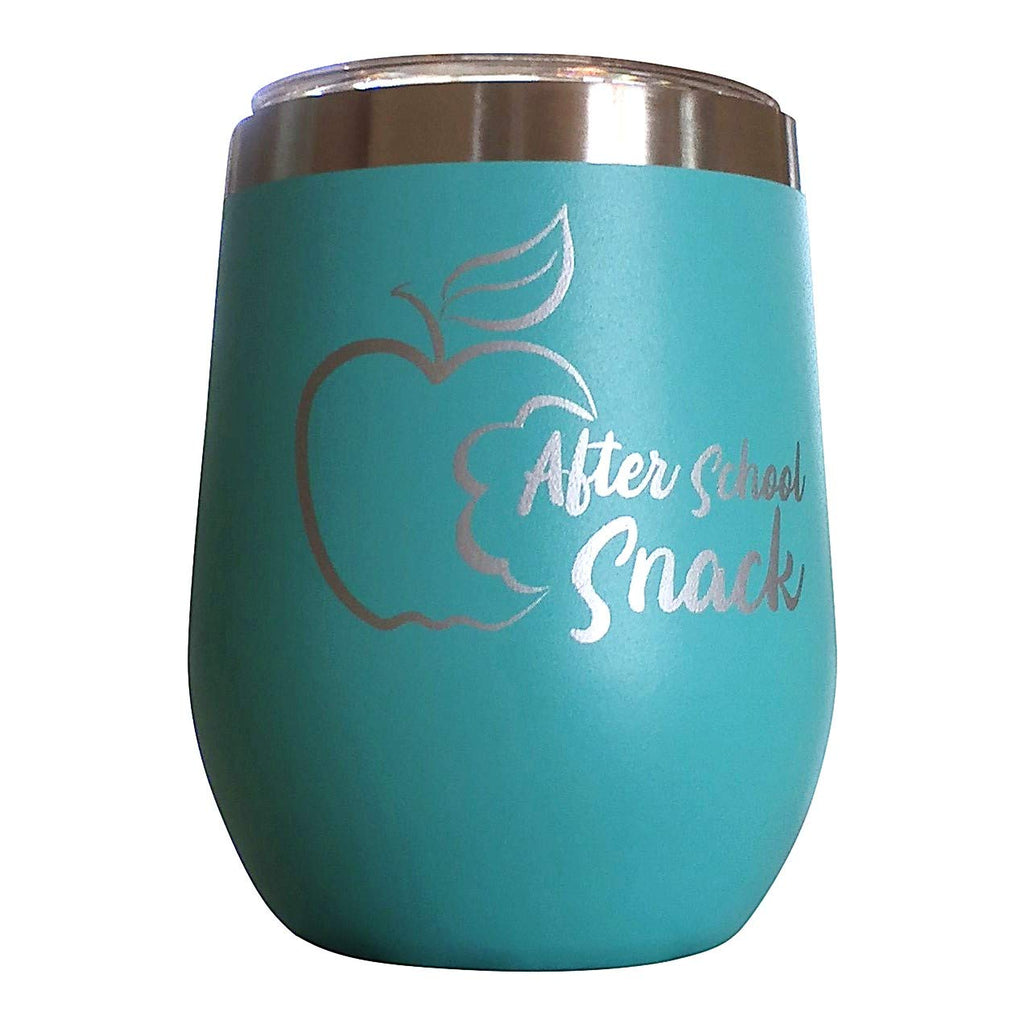 After School Snack Wine Glass Tumbler | Teacher Appreciation Gifts |