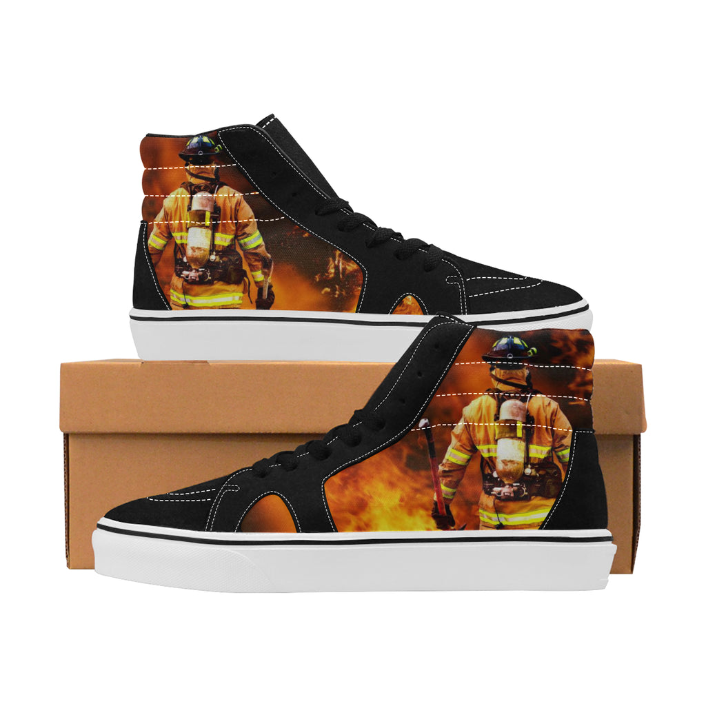 Firefighter Women's High Top Canvas Shoes