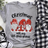 Chillin' With My Gnomies -Custom Teacher Shirt - Personalized Teacher Shirts - Gift For Teacher