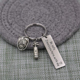 Keychain for Police Firefighter Military Be Safe I Need You Here with Me Police Officer Firefighter Gift (keychain for firefighter)