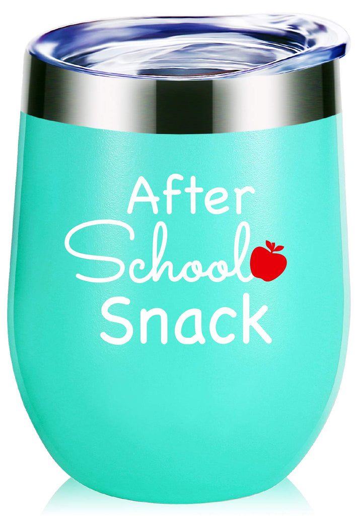 Teacher Gifts.After School Snack Wine Glass Tumbler With Funny Sayings.