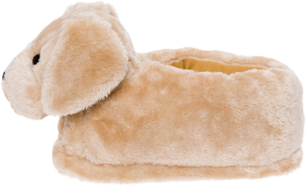 Silver Lilly Golden Retriever Slippers - Plush Dog Slippers w/Platform
