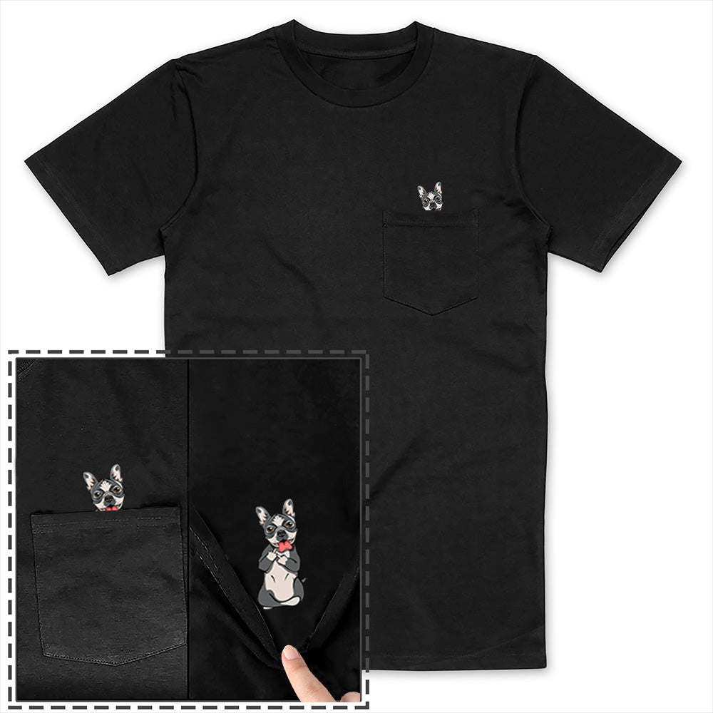 Boston Terrier Pocket Tee