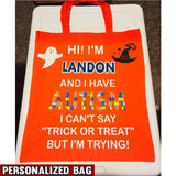 I HAVE AUTISM Personalized Bag