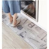 80X45cm/120X45cm/150X45cm Bread Wheat Printed Kitchen Floor Mat Modern Anti-skid/Anti-foulin Rug PVC Leather Material Carpets