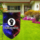 Kjing Black Live Matters Garden Flag Double Sided,Holiday Outdoor Decorative for Home House Garden Yard Lawn