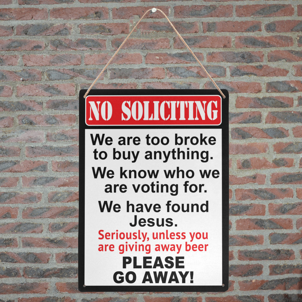 "NO SOLICITING Metal Print 12"" x 16"""