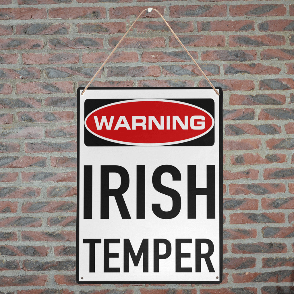 "WARNING IRISH TEMPER Metal Print 12"" x 16"""