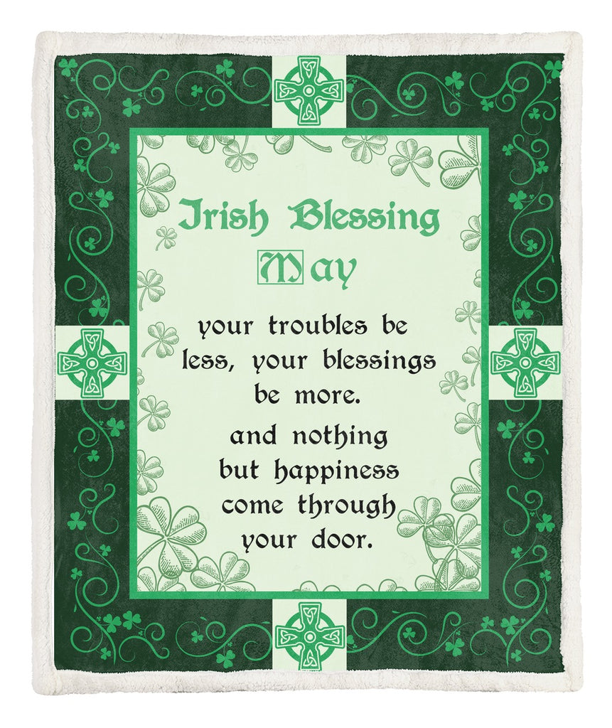 "Irish Blessing Ultra-Soft Microfiber Fleece Blanket 60"" x 80"""
