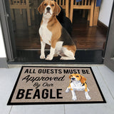 "All Guests Must Be Approved By Our BEAGLE Doormat 23.6"" x 15.7"""