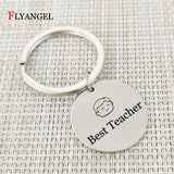 Best Teacher Cartoon Men Teacher Keychain Keyring Thanksgiving Teacher School Party Gifts Souvenir Car Key Chains Rings