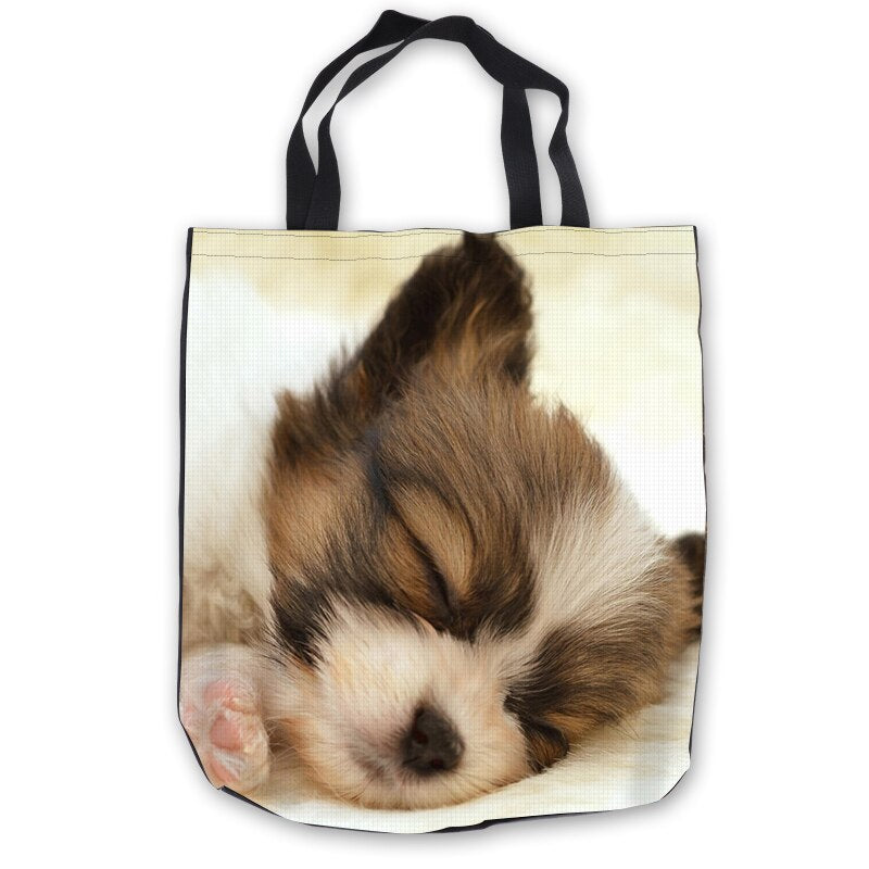 Custom Canvas yorkshire terrier dog ToteBags Hand Bags Shopping Bag Casual Beach HandBags Foldable 180713-1-18