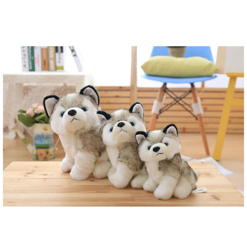 Cute Husky  Comfort Plush Toy , 18/22/28cm Dog Dolls For Baby Kids Toy , High Quality Cotton Brinquedos Baby As Gifts