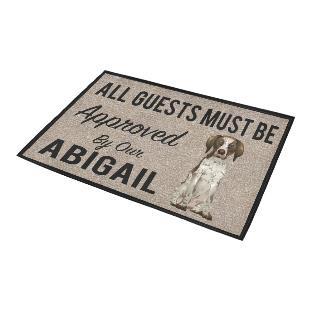"All Guests Must Be Approved By Our Abigail Doormat 23.6"" x 15.7"""