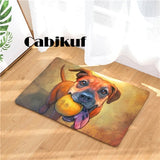 Doormat Carpets Oil Painting Dog Print Mats Floor Kitchen Bathroom Rugs 40X60or50x80cm
