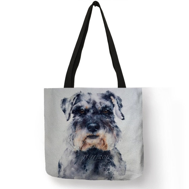 Dog Painting Handbags For Women Lady Shoulder Bag Casual Shopping Traveling School Bags Large Capacity