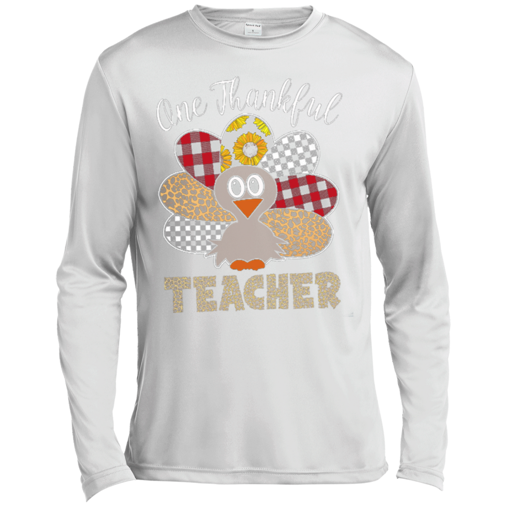 One Thankful Teacher ST350LS Spor-Tek LS Moisture Absorbing T-Shirt