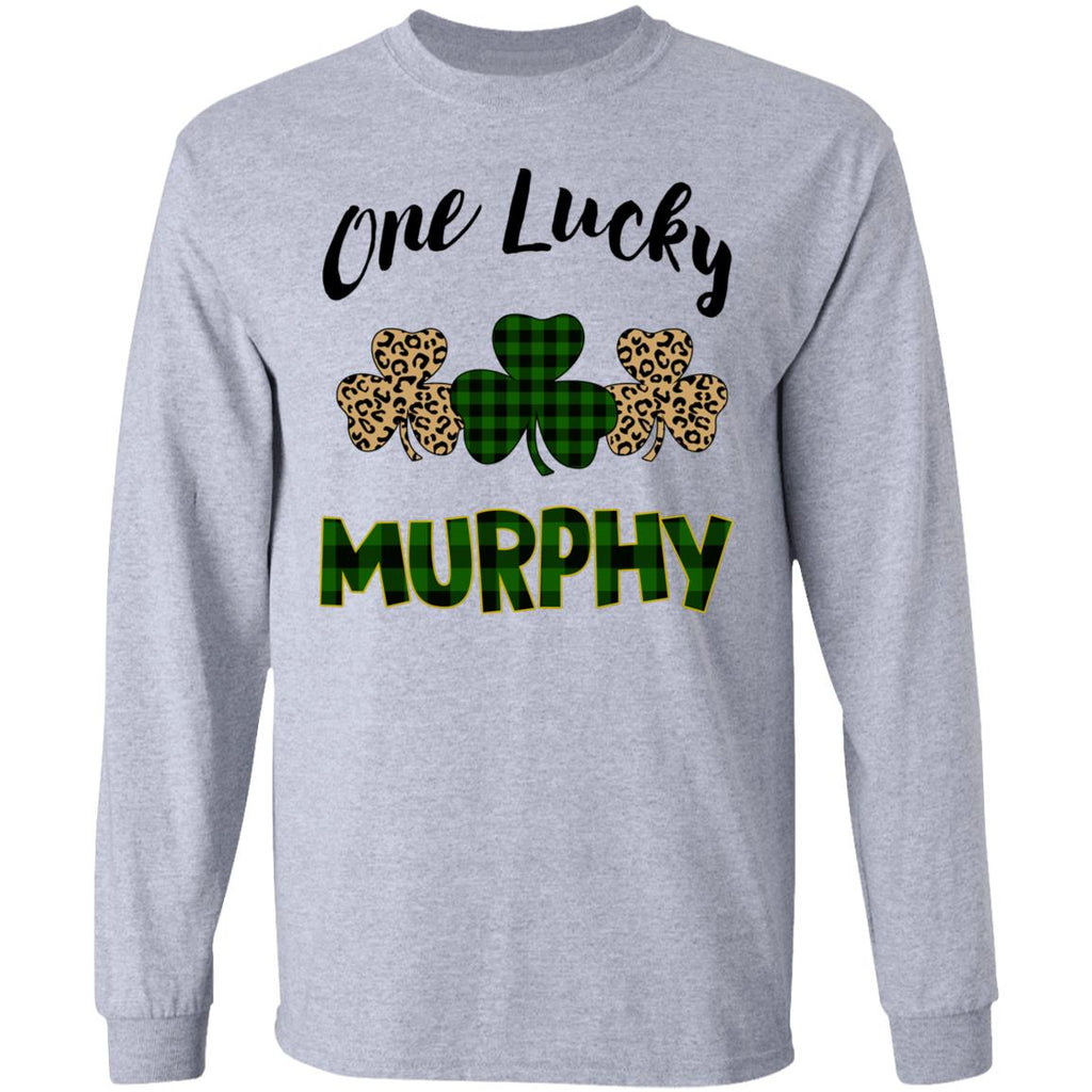One Lucky Personalized Text Tees Hoodies