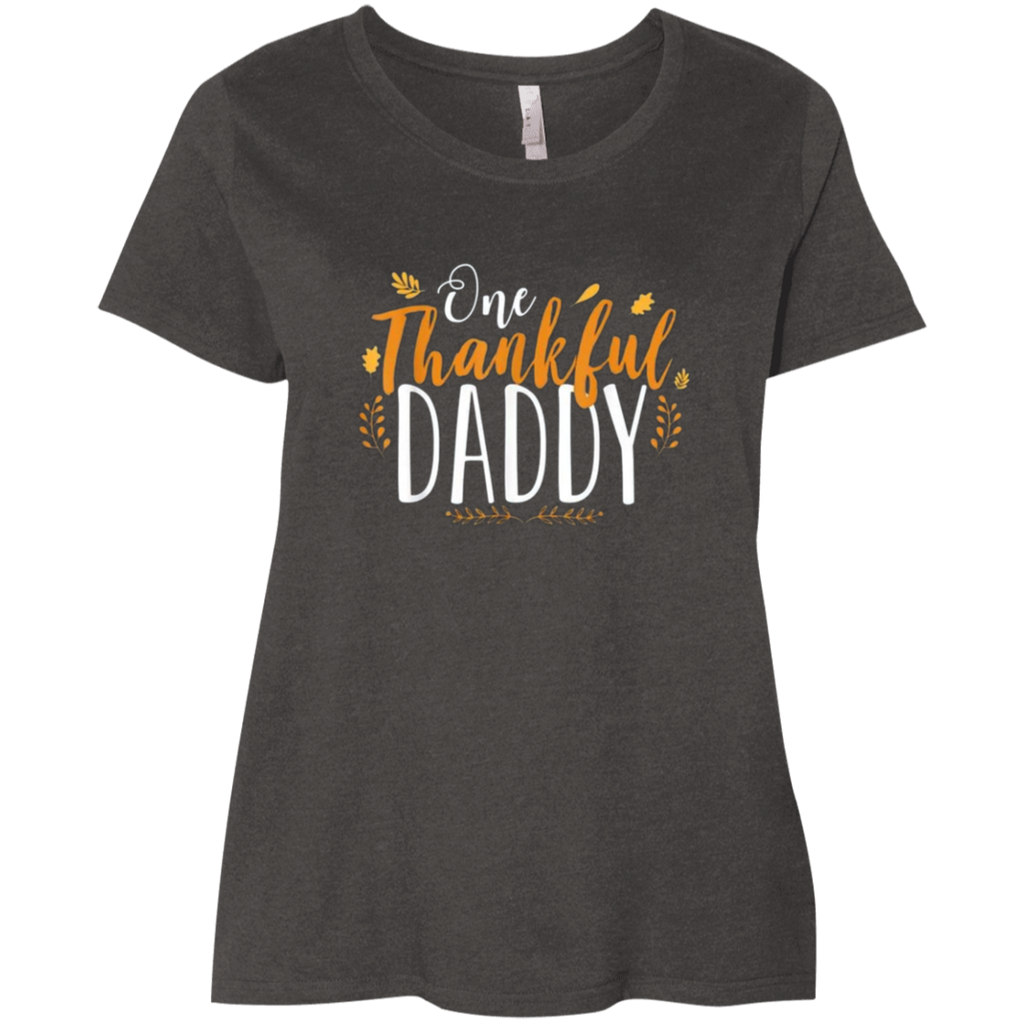 One Thankful DADDY 3804 LAT Ladies' Curvy T-Shirt
