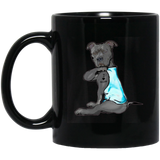 American pit bull terrier Personalized Text Mug 11oz 15oz