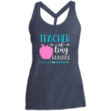 TEACHER OF TINY HUMANS 1 DM466 District Made Ladies Cosmic Twist Back Tank