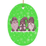 Hanging With My Brown Gnomies Ceramic Ornament