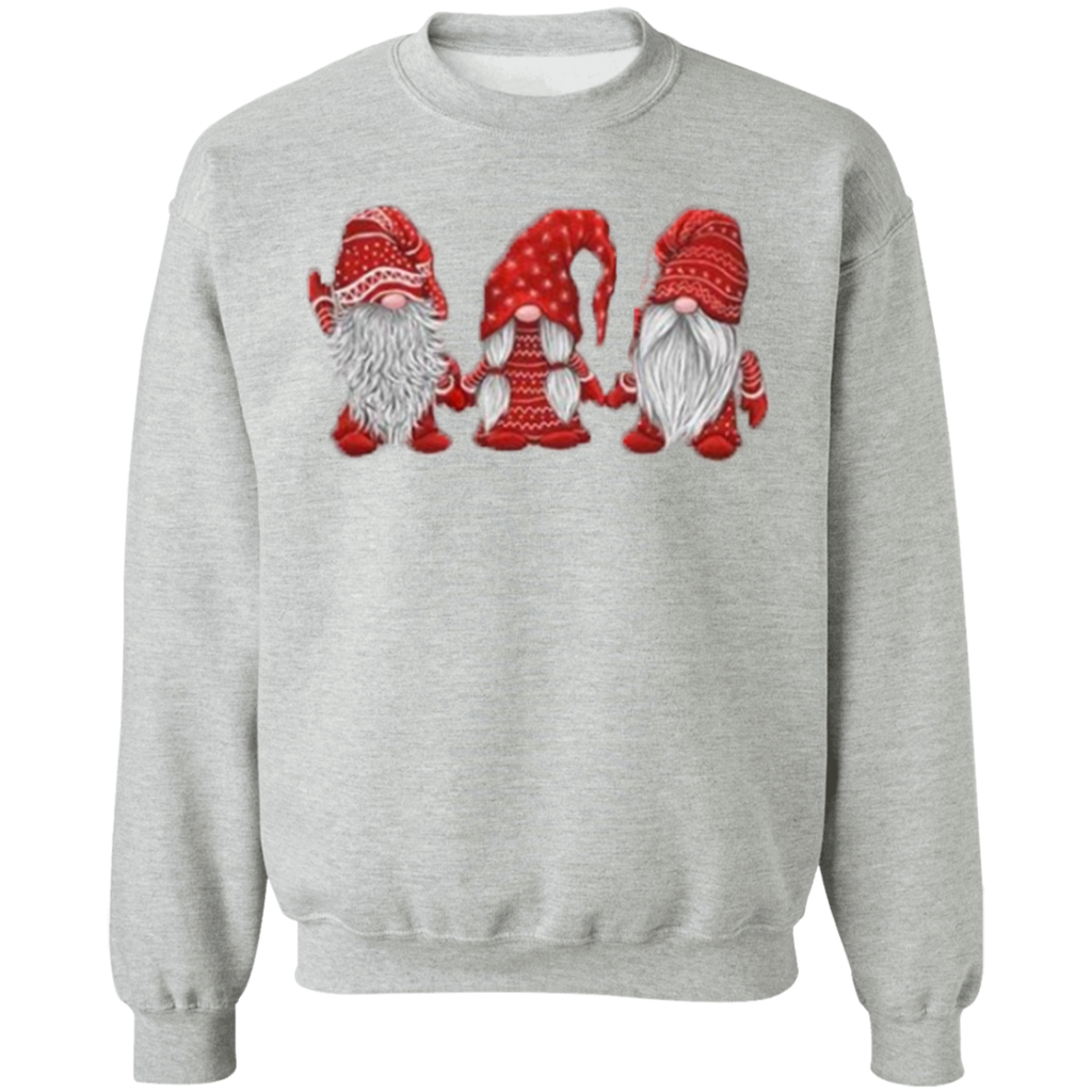 Hanging With Red Gnomies G180 Gildan Crewneck Pullover Sweatshirt  8 oz.