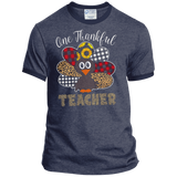 One Thankful Teacher PC54R Port & Co. Ringer Tee
