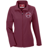 Thin Red Line Number Personalized Embroidered Jacket - TT80W Team 365 Ladies' Soft Shell Jacket
