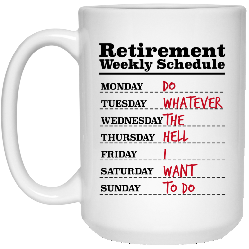 RETIREMENT 21504 15 oz. White Mug
