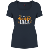 One Thankful MAMA DM106L District Women's Perfect Scoop Neck Tee