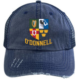 Irish Provinces Personalized Name Embroidery  6990 Distressed Unstructured Trucker Cap