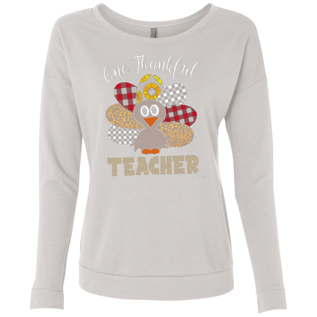 One Thankful Teacher NL6931 Next Level Ladies' French Terry Scoop