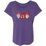 Hanging With Red Gnomies NL6760 Next Level Ladies' Triblend Dolman Sleeve