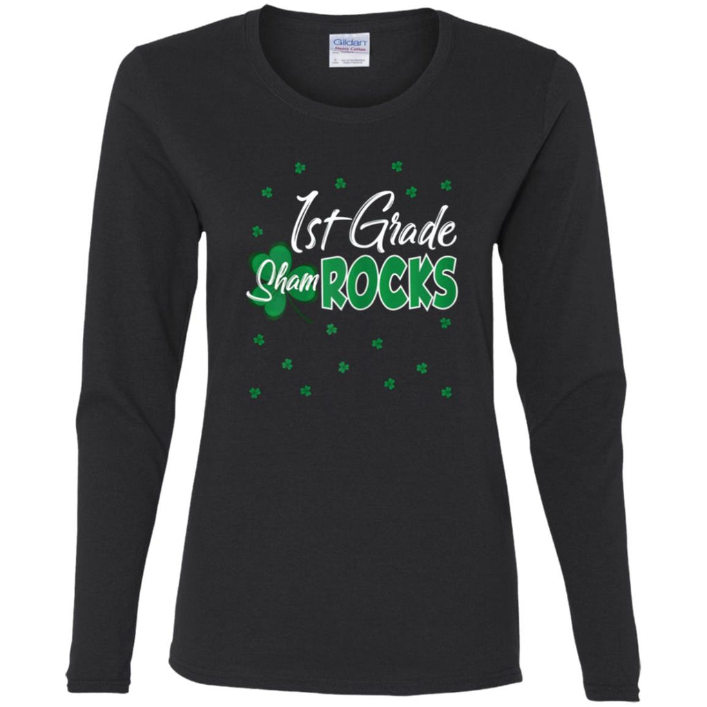 1ST Grade ShamROCKS Personalized Teacher Shirts - Custom Teacher Shirt - Gift For Teacher