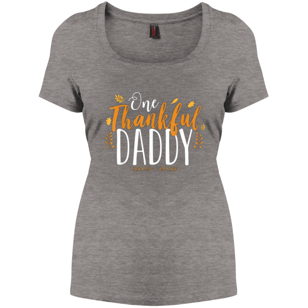 One Thankful DADDY DM106L District Women's Perfect Scoop Neck Tee